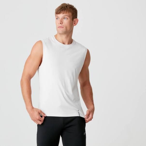 Camiseta sin Mangas Luxe - XS - Chalk