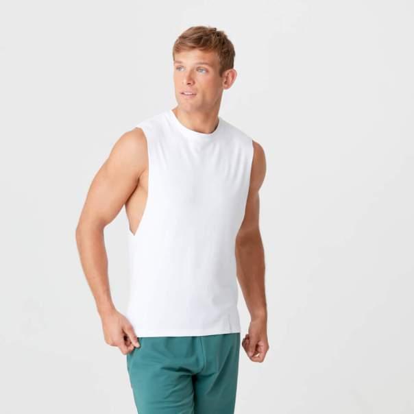 Camiseta de Tirantes Luxe - XXL - Blanco