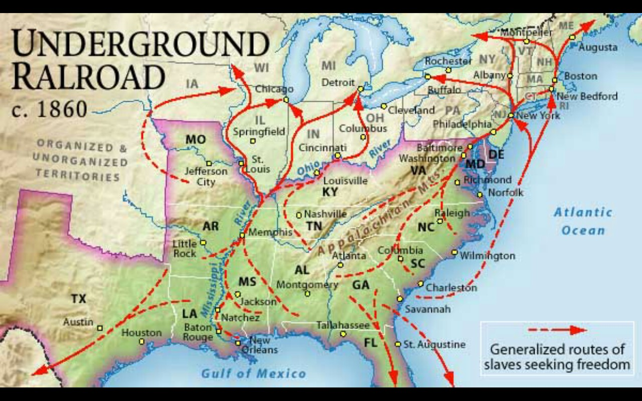 Ajs Slave Project And Underground Railroad