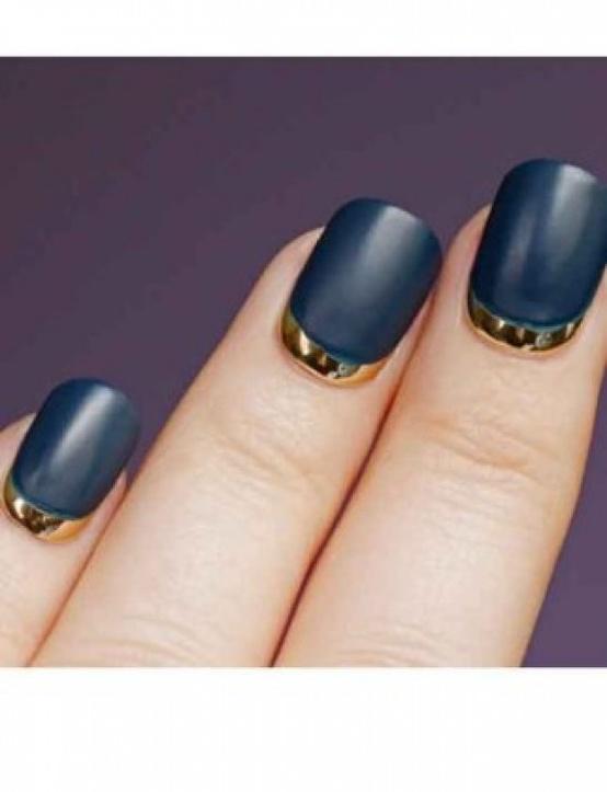 Half Moon Manicure Wedding Nail Art