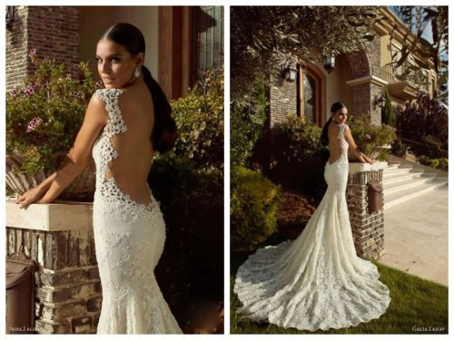 Mermaid Lace Backless Abito Da Sposa Damigelle D'onore Da