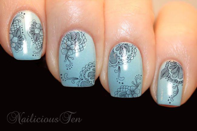 Fish Fine Fl Lace Nail Wraps Art Water Transfer Decal So Beautiful St8113