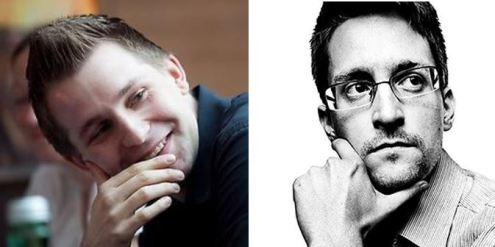 @maxschrems i Edward @Snowden als seus perfils de Twitter