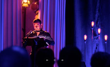 Enric, presentando un programa de lied