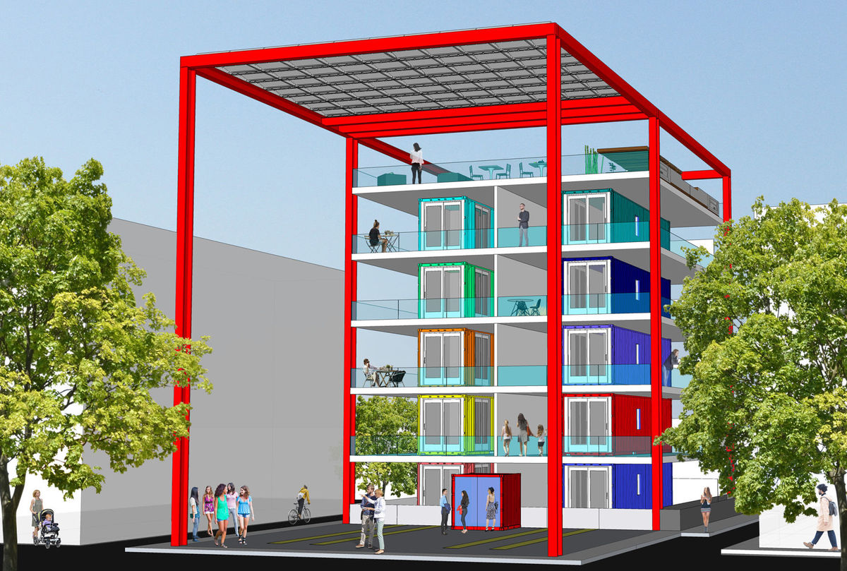 Best Kitchen Gallery: Shipping Container Housing Project To Go Up Near Downtown Tucson of Shipping Container Buildings on rachelxblog.com