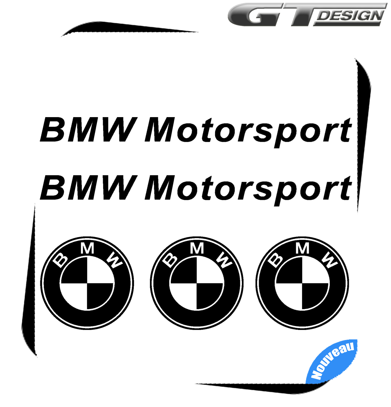 Lot De 5 Stickers Bmw Motorsport Ce Lot Comprend 3 Logos