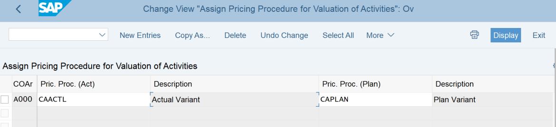 2. Assign Pricing Procedure CAACTL