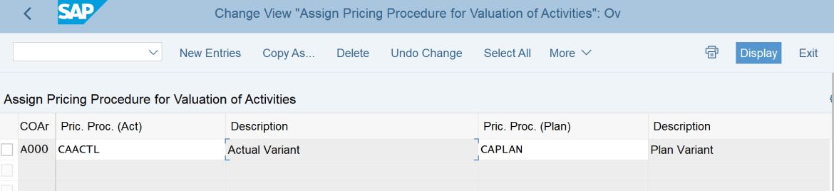 2. Assign Pricing Procedure CAACTL