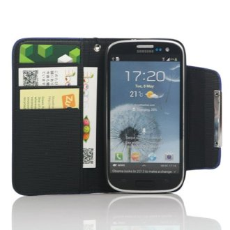 ZuGadgets 7484-4 Leather Flip Wallet Case with Credit/ID Card Slot and Free Screen Protector For Galaxy S3 (Review)