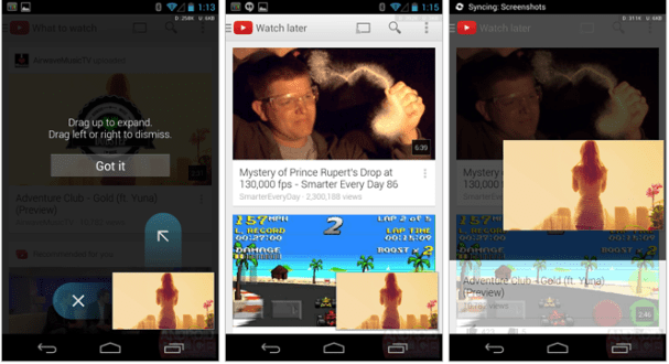 New YouTube App for Android 5.0 version, New UI, Multi-tasking, New look many things