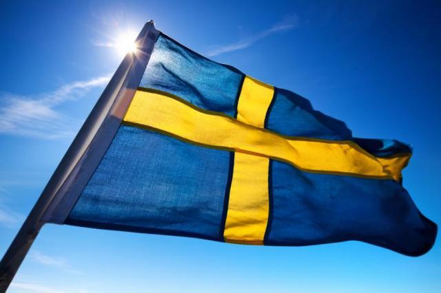 Szwedzka flaga - zdjęcie ilustracyjne