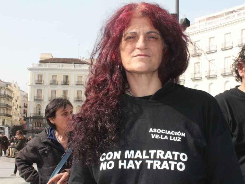 Susana Bejerano fue víctima de malos tratos y se ha unido a la huelga de hambre organizada por la asociación Ve-la-luz.