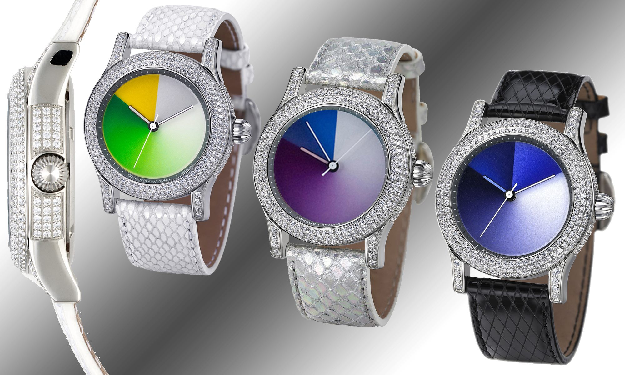 monochrome classic rainbow watch crystal color changing colours