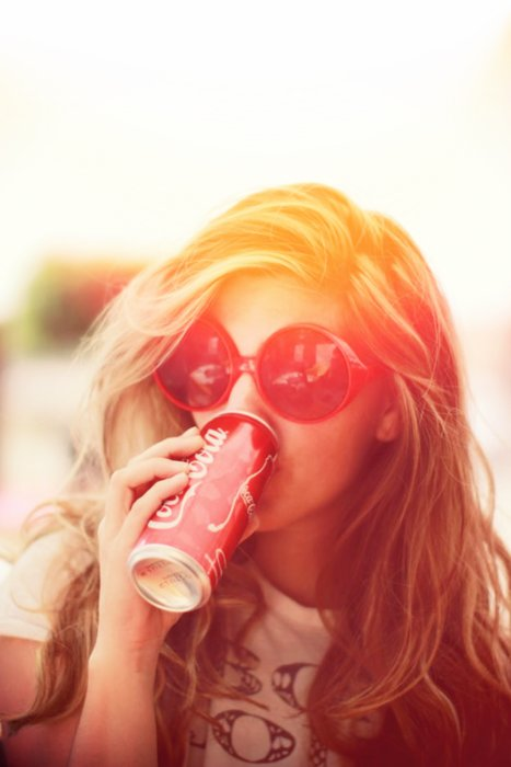Drinking Coca Cola Girl Tumblr