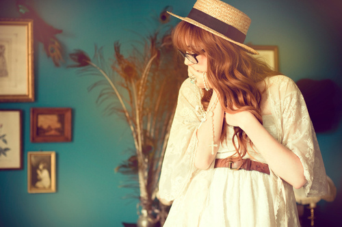 fashion, hat, vintage
