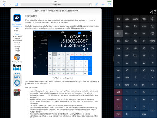 PCalc - The Best Calculator Screenshot