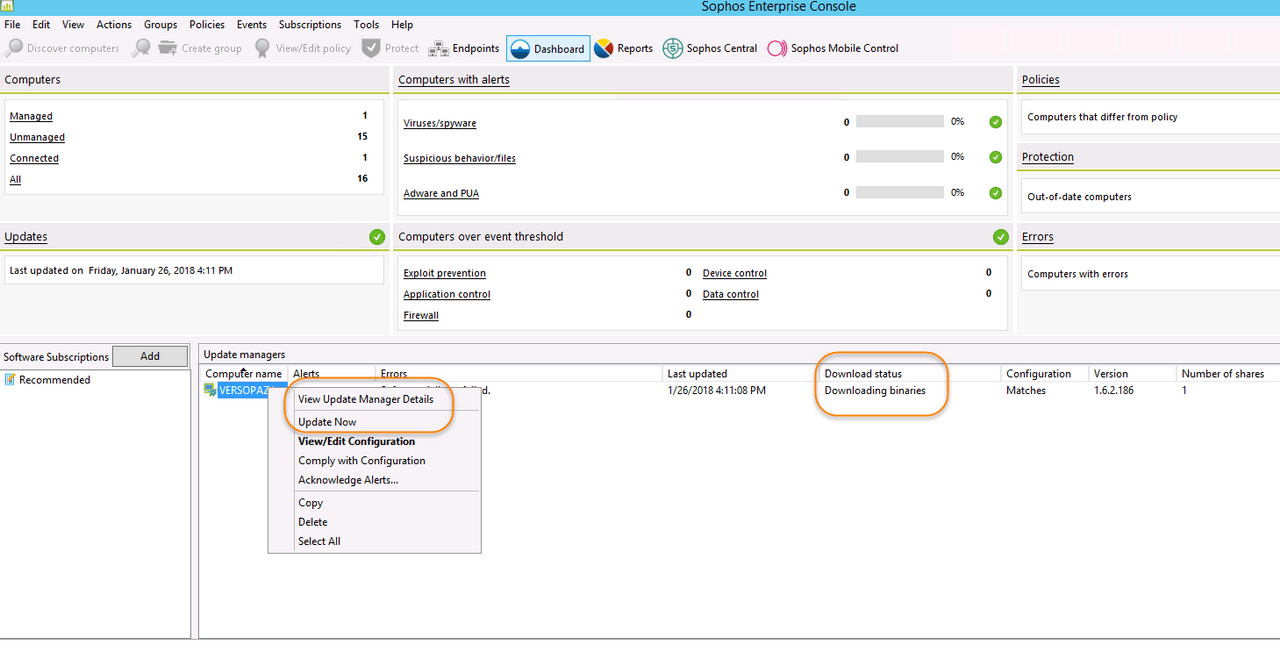 Sophos Update Error - Troubleshooting with Palo Alto Firewall