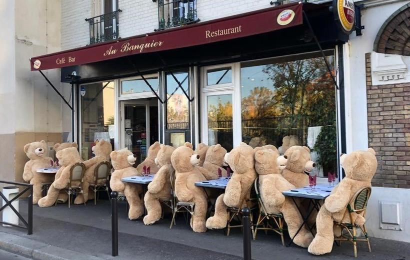 Париж атаковали плюшевые медведи