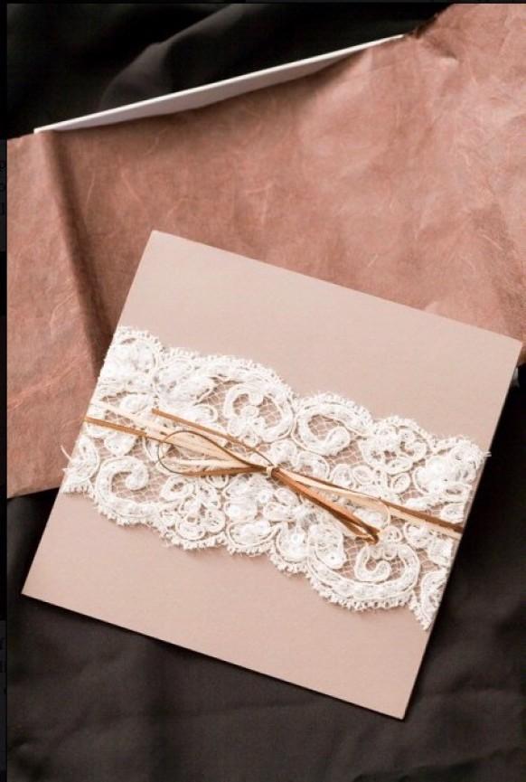 DIY Lace Wedding Invitation ♥ Cheap Wedding Invitation #803719 ...