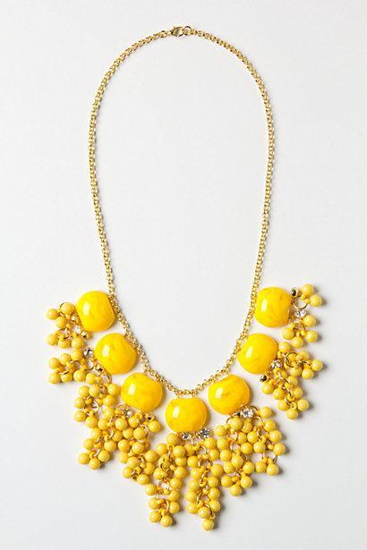 Lemon Zest Confetti Collar Amarillo para bodas ♥ Kolye Sari Boncuklu