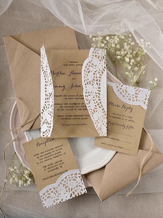 Rustic Wedding Invitation Eco Friendly Invitations