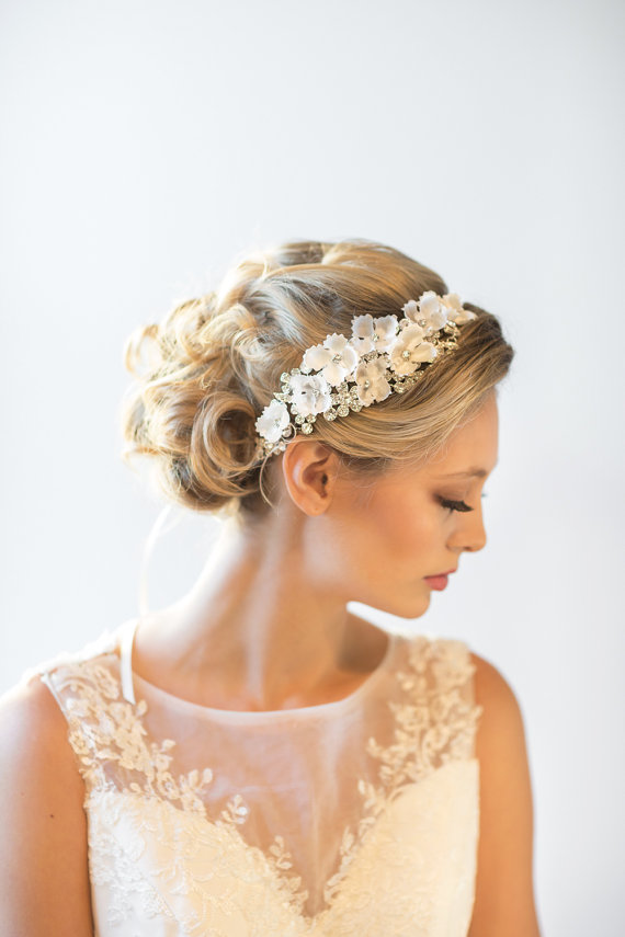 wedding headpiece bridal hair accessory bridal ribbon headband new