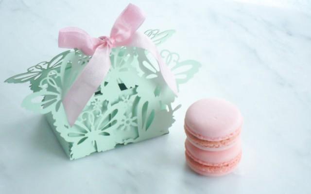 Wedding Favors Macaron Box Butterfly