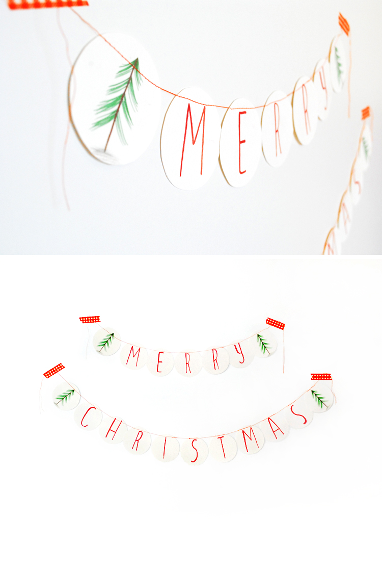 MerMagMerryChristmasBannerPrintable