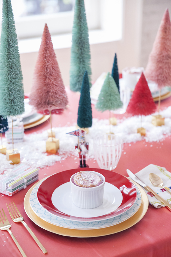 table coloree de noel