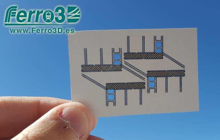 vallas y barandillas escala N Ferro3D