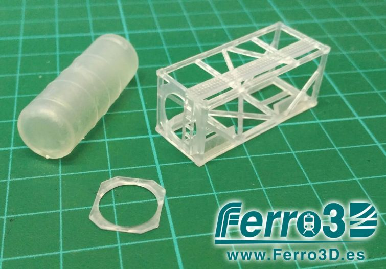 Contenedor Renfe escala N Ferro3D