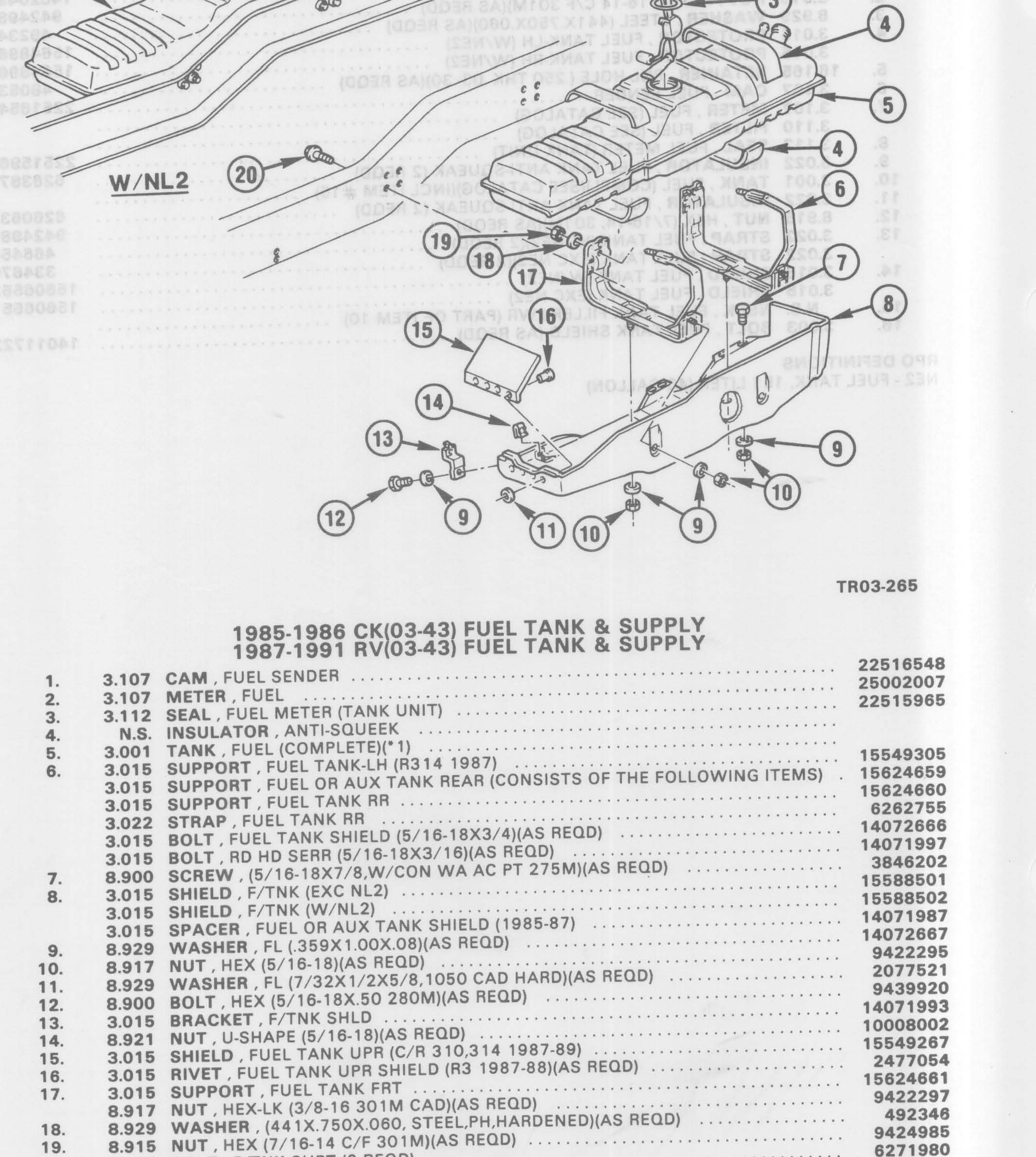 Fuel Tank And Bracketing And Shields Fuel Tank And
