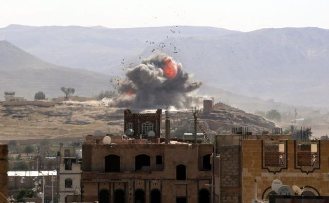 Znalezione obrazy dla zapytania samoloty bombardujace jemen zdjecia