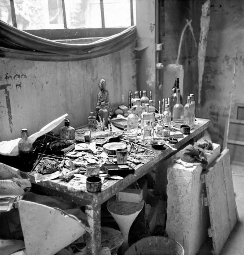 El famoso estudio de Alberto Giacometti visto por Ernst Scheidegger.