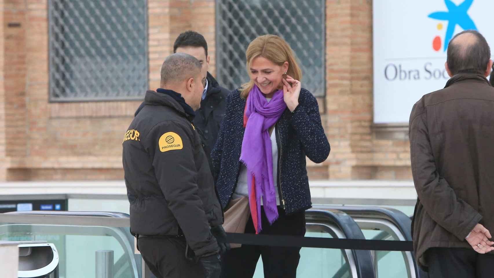 La infanta Cristina en su última visita a Barcelona
