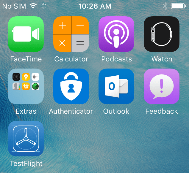 New Microsoft Authenticator icon – right at home on iOS!