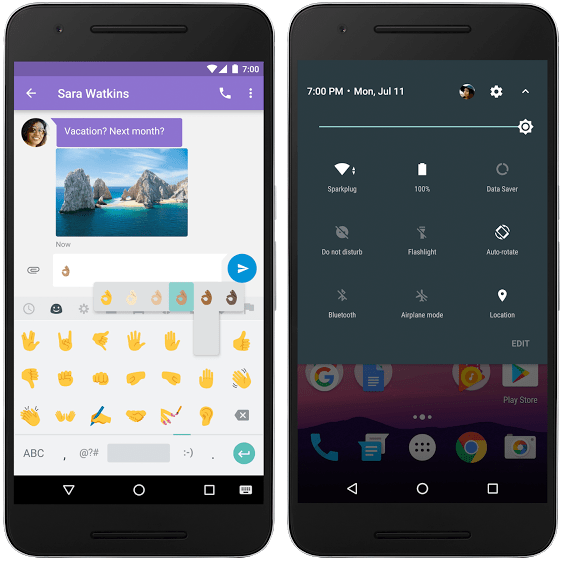 Android Nougat multi-local support - quick settings