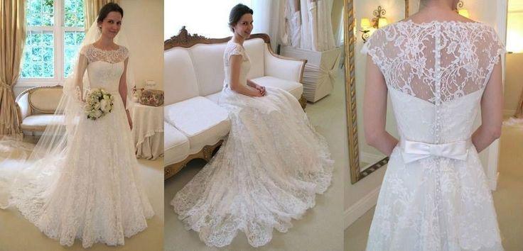 Gorgeous White/Ivory Lace Wedding Dress Bridal Gown Custom