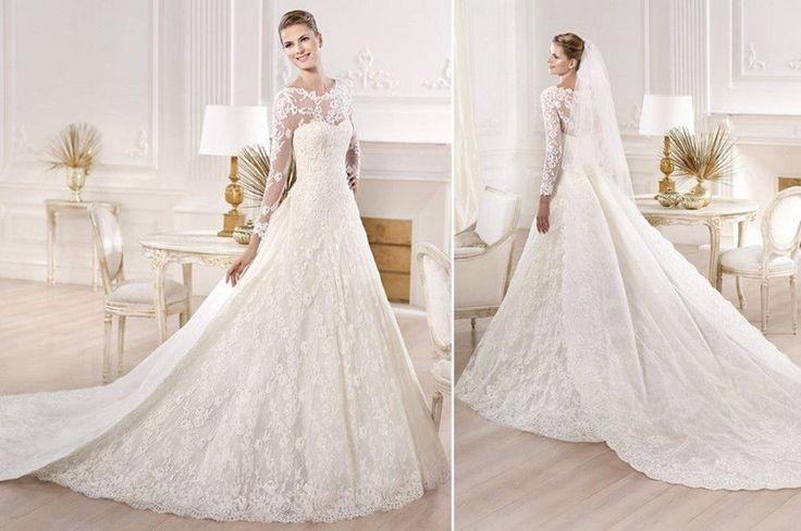 Ball Gown Satin&Lace Bridal Gown Wedding Dress Custom Size
