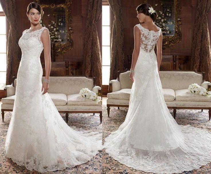 2014 New White/Ivory Lace Wedding Dress Bridal Gown Size 6