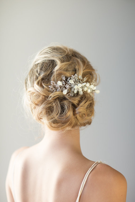 Bridal Hair Comb Beach Wedding Hair Accessory Crystal