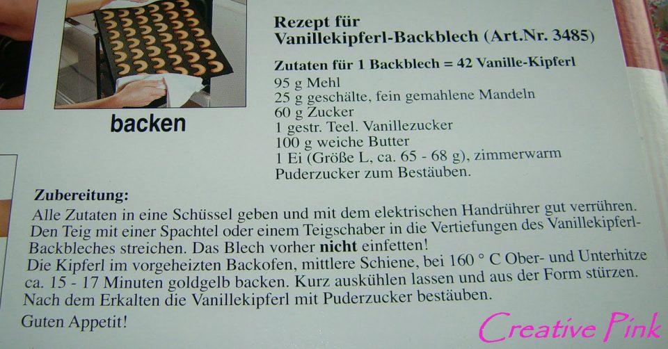 Rezept Vanillekipferl Backblech