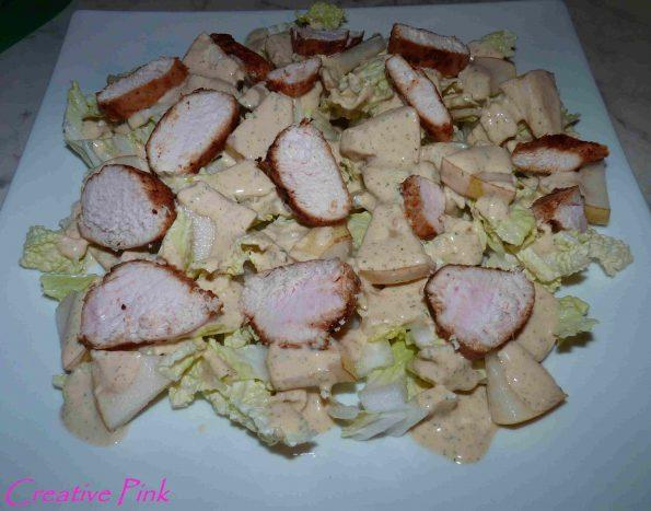 Chinakohlsalat mit Hähnchen