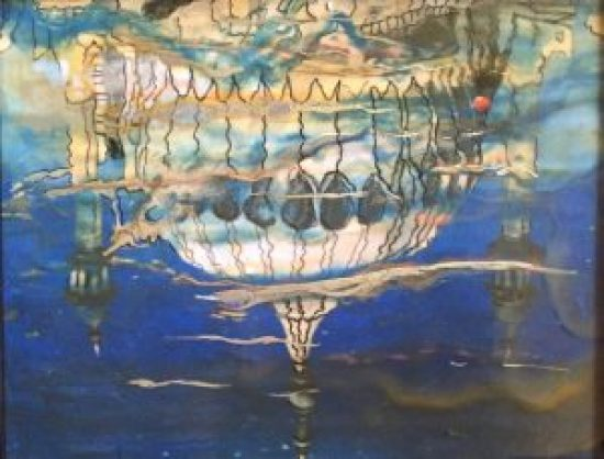 Royal Pavilion Reflected Encaustic on board, 10 inches by 12 inches