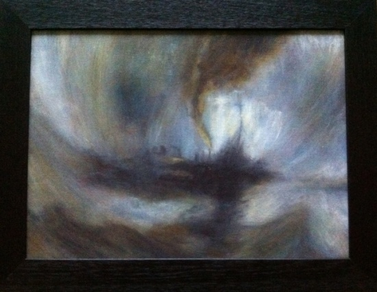Snowstorm-Steam Boat off a Harbours Mouth, after Turner