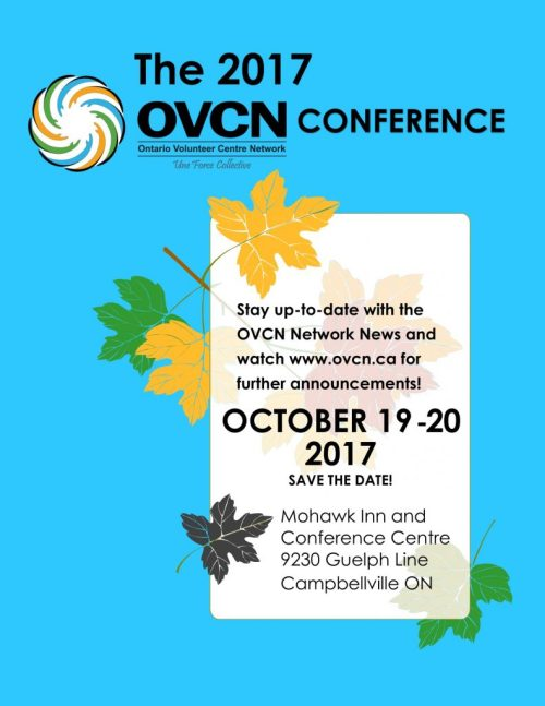 OVCN Conference - Save the Date: October 19-20, 2017!