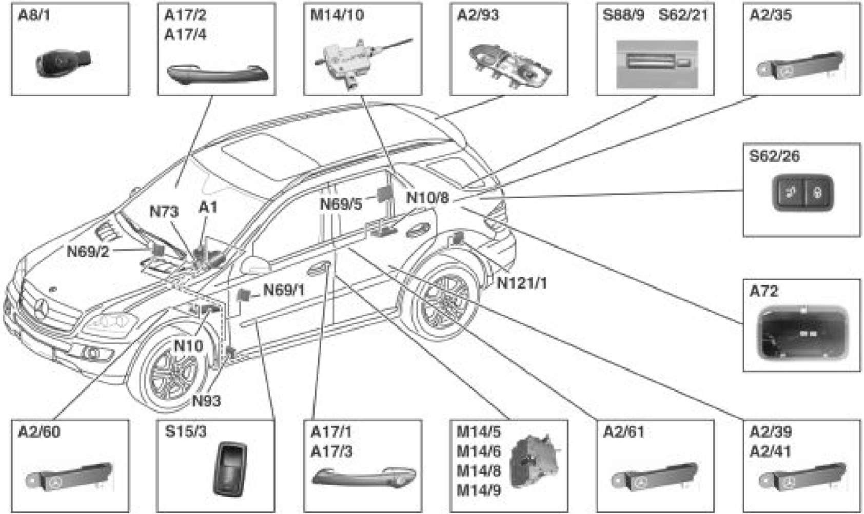 W164 Relay Diagram