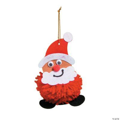 Pom Pom Santa Ornament Craft Kit Ornament Crafts Adult