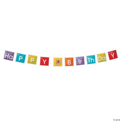 Science Party Birthday Paper Pennant Banner Oriental Trading