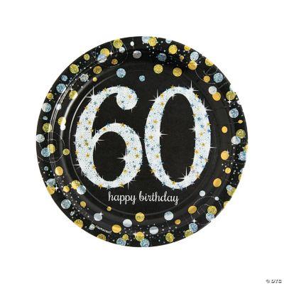 Sparkling Celebration 60th Birthday Paper Dinner Plates 8 Ct Oriental Trading
